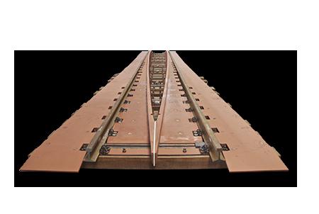 Encarriladora para un trazado ferroviario