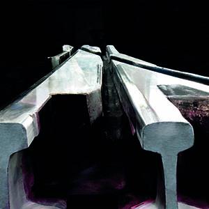 Cruzamiento o corazón especial en acero al manganeso para un desvío de tres hilos