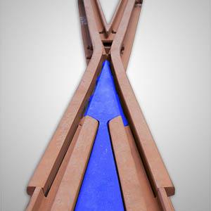 Cruzamiento o corazón ensamblado con punta de acero al manganeso para un desvío de tranvía