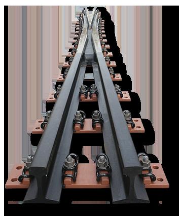 Cruzamiento o corazón de un desvío ferroviario