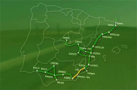 Adjudicados a Amurrio los desvíos en balasto para el tramo Murcia-Almería del Corredor Mediterráneo